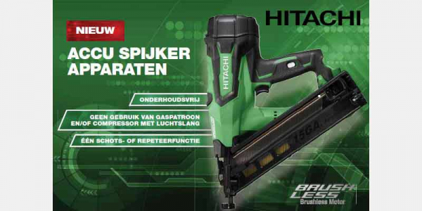 Hitachi 18V spijkerapparaten